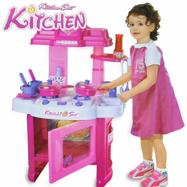 Portable kitchen set toy for baby girl for Kitchen set for babies