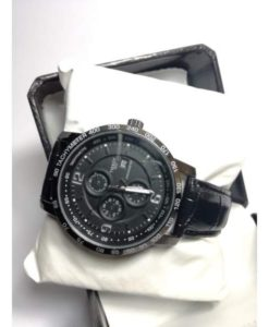 TACHYMETER WATCH WITH BLACK STRAPS DATE WORKIGN