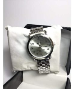 COACH SHINE CHAIN WATCH SILVER FOR MEN BY SHOPSE.PK