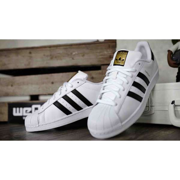 presenting the best attitude discount sale Superstar White with Black Stripes