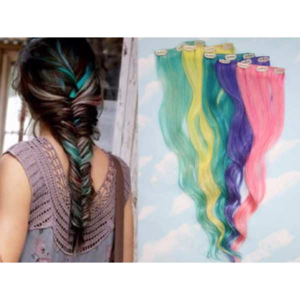 Clip On Colored Hair Extension In Pakistan Shopse