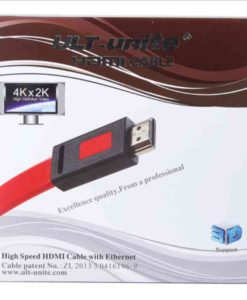 Buy Best Quality Flat Hdmi Cable Ult Unite 1.4V 3 Meter 2k and 4k Red at Lowest Price by Shopse.pk in Pakistan