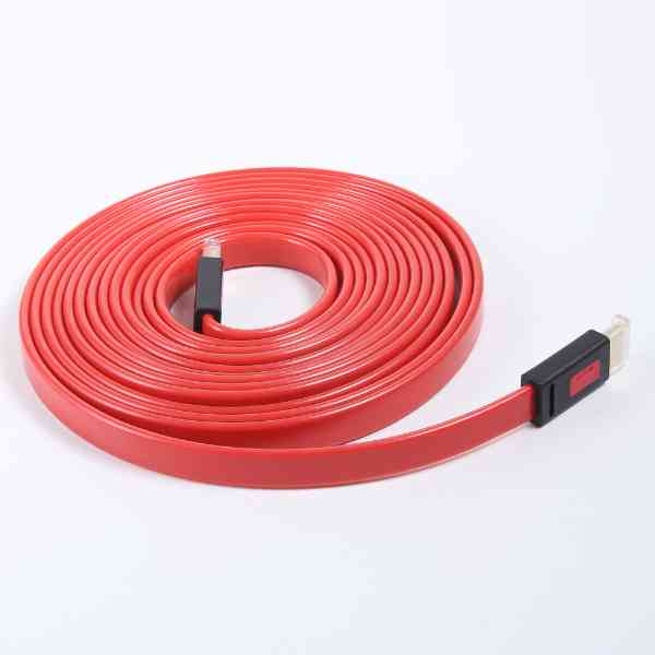 Buy Best Quality Flat Hdmi Cable Ult Unite 10m 2k and 4k Red at Lowest Price by Shopse.pk in Pakistan