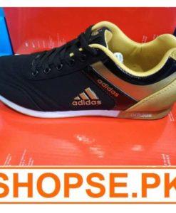 vietnam Made Adidas Black Golden Combination Shoes in Pakistan