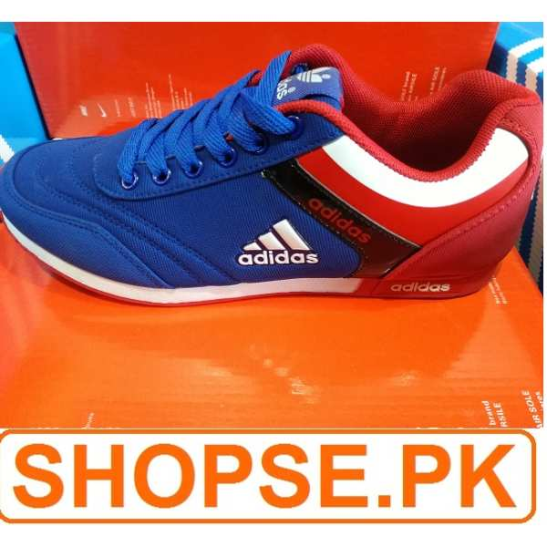 Vietnam Made Adidas Blue Red Combination Shoes in Pakistan