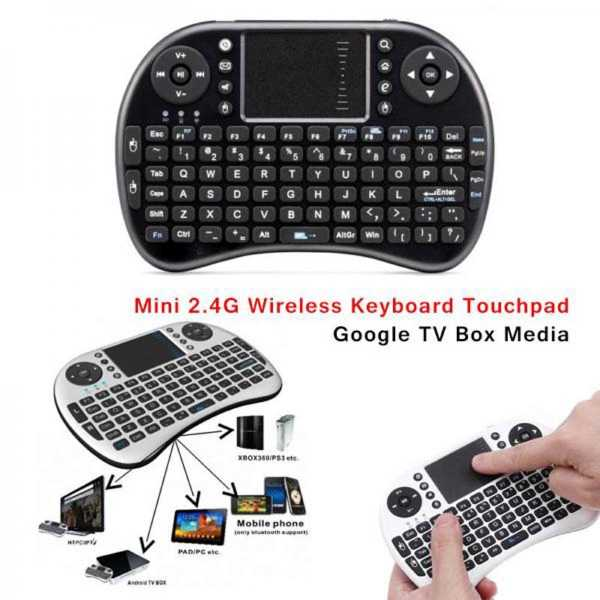 Mini Touch Pad Rf500 Bluetooth Keyboard Mouse | Shopse.pk