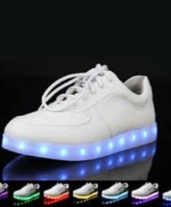 White Led Shoes in pakistan