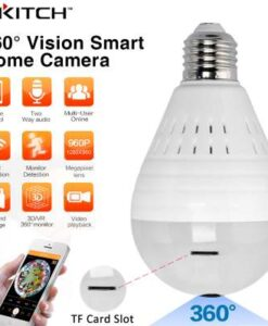 Ip Wireless Panoramic Hidden Light Bulb Camera in Pakistan