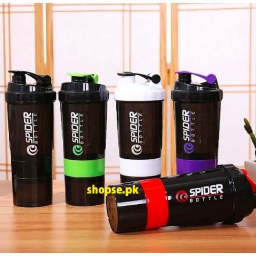 buy spider shaker gym protien shaker bottle with powder and suppliment container best price online in pakistan by Shopse.pk