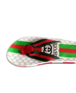 Gucci White Green Combo Slippers in Pakistan