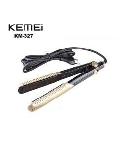 Kemei KM-327 Professional Hairdressing Portable Ceramic Hair Straightener in pakistan