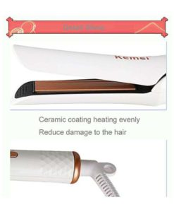 Kemei KM - 390 Ceramic Clamp Iron Perm Splint Hair Straightener in Pakistan