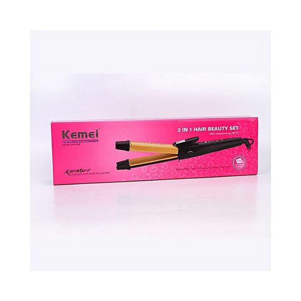 Kemei Km-1268 2 In 1 Professional Hair Straightener For Hair Irons Hair Curler in pakistan