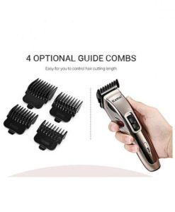 Kemei Km - 5035 Adjustable Cordless Rechargeable Hair Clipper With 4 Guide Combs