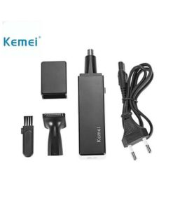 Kemei Km - 6672 2 In 1 Rechargeable Nose Beard Hair Trimmer - Black & White in pakistan