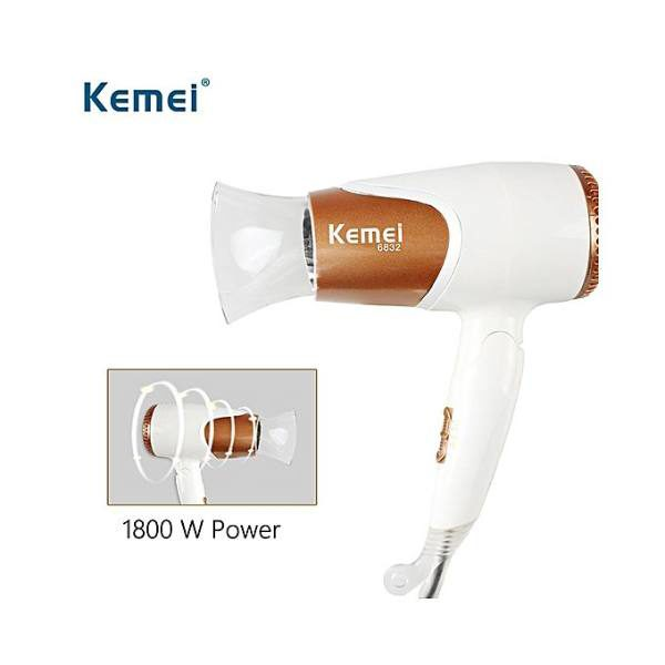 Kemei Km-6832 1600W Professional Hair Dryer With Cool Button