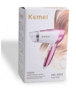 Kemei Km-6833 1600W Professional Hair Dryer With Cool Button in Pakistan