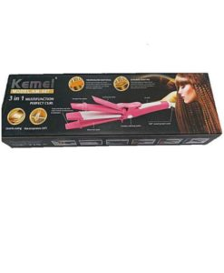 Shinon kemei KM-987 3 In 1 Straightener, Crumple And Roller in pakistan