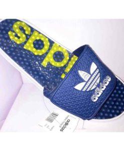 adidas slipper Blue yellow design in Pakistan