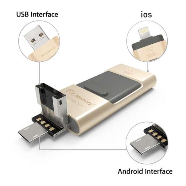Buy 64Gb 3 in 1 Usb Flash Drive Online in Pakistan | Shopse.pk