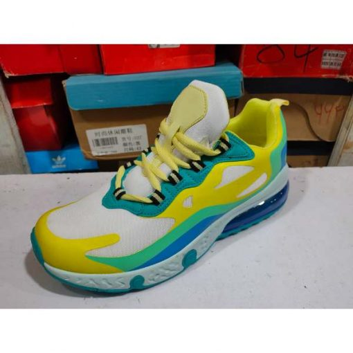 Buy Best Quality Air Max 270 React Running Shoe Yellow White at lowest Price by SHopse.pk in Pakistan (3)
