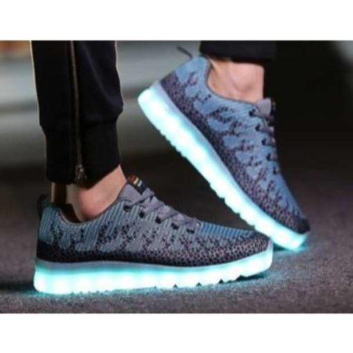 grey texture led lightup Shoes in Pakistan