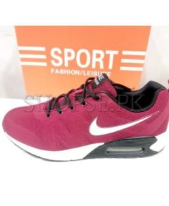 Nike Air Maroon Black Shoes in Pakistan (2)