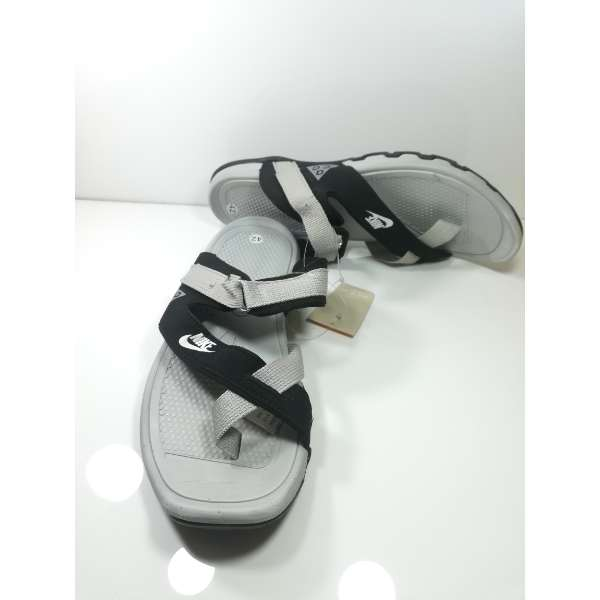 best service 21346 29af9 Nike Grey Black Mens Slippers Sandals
