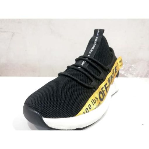 BUy off white yellow Stripe shoes in pakistan (1)