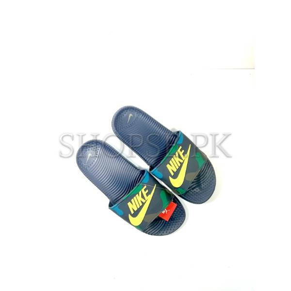 the latest 441ee 05699 Blue Camouflage Nike Mens Slippers Flip Flop