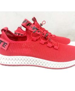 buy off white fashion shoes red color in pakistan (2)