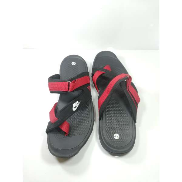 new arrival 08858 309a3 Nike Men Slippers Black Red Sandals