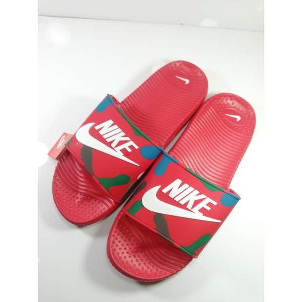finest selection 7d8a4 5c15d Red Nike Mens Slippers flip Flop