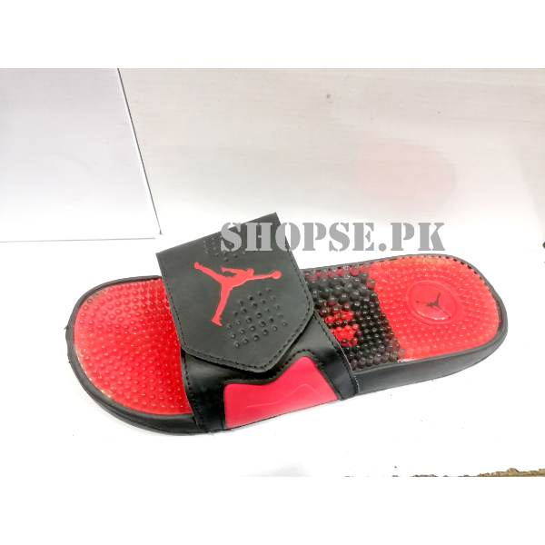 promo code 43c89 0107c Red Nike Air Jordan Mens Slippers