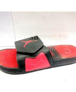 Buy best quality nike air jordan red mens slippers by shopse.pk in pakistan (1)