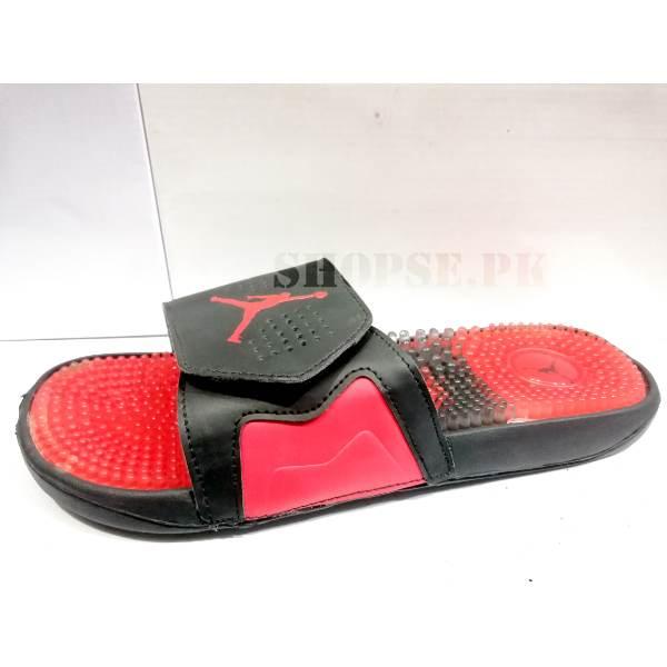 promo code 8a6b0 11a7a Red Nike Air Jordan Mens Slippers
