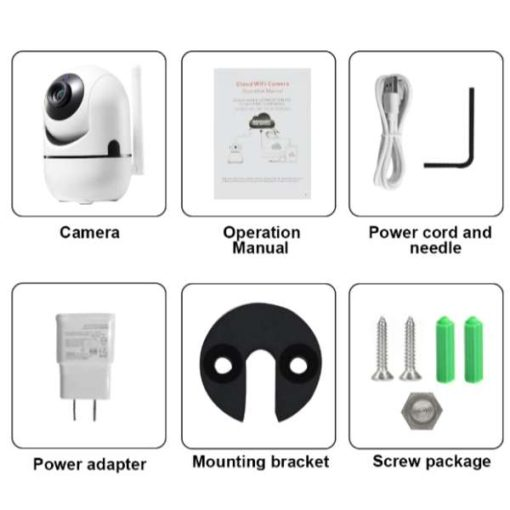 HD Cloud WIFI IP Camera With Motion Auto Tracking IR Night Vision TF Slot Alarm Recording Sending Email Security Camera in pakistan by shopse (2)