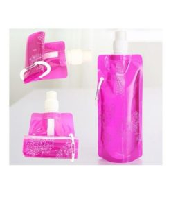 buy pink foldable water bottle for camping in Pakistan (1)