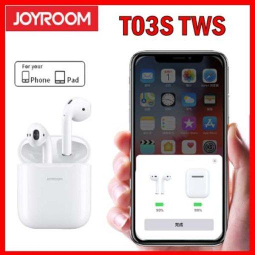 BUY BEST QUALITY JOYROOM T03 T03S BLUETOOTH EARPHONE POP UP WINDOW WIRELESS TWS EARPHONE BLUETOOTH EARBUDS HEADSET BY SHOPSE.PK IN PAKISTAN