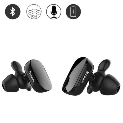 BUY Best Quality Baseus Dual Side Mini Bluetooth Handfree Ngw02 at lowest Price by Shopse.pk in Pakistan 1