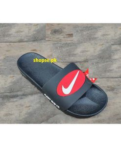 Buy Best Quality Imported Branded Replica Black Slides Mens Slipper CHNK01 Flip Flop by shopse.pk in Pakistan (1)