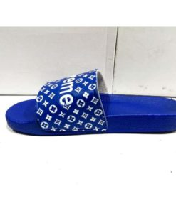buy best quality mens slippers mens chappal summer slippers Blue louis vuitton x Supreme slides by shopse.pk in Pakistan (10)