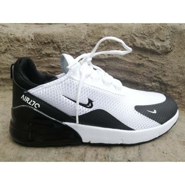 free shipping 9bd04 37fe2 Nike Air Max 270 White Black Shoes SHk49