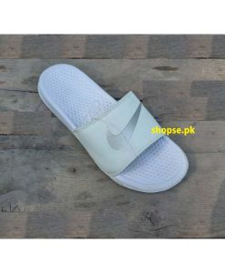 Buy Best Quality Imported Branded white Slippers Men Slide Km205 and Flip Flop by shopse.pk in Pakistan 1 (1)