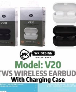 Buy REMAX WK TWS V20 AIRDOTS BLUTOOTH WITH CHARGING DOCK at lowest price in pakistan (1)