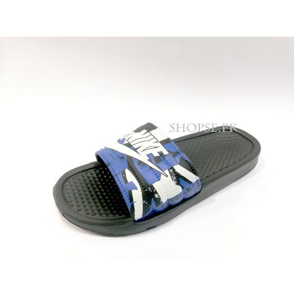 Buy Dark Blue Camouflage Nike Slippers