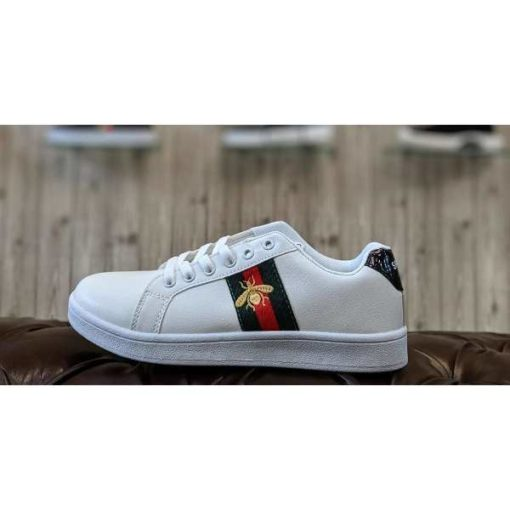 Gucci Honey Bee White Shoes Ace