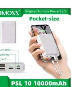 buy best quality romoss simple10 power bank 10000mah 3 input and 2 output small size at lowest price by shopse.pk in pakistan (1)