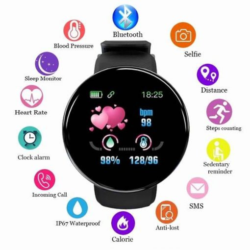 D18 Fitness Tracker Smart Watch Band price IP65 Waterproof Bluetooth Sport Intelligent Wrist For Call Reminder Motion Detection Device For Xiaomi,Apple,,OPPO,Samsung,Huawei,Redmi by shopse.pk in pakistan