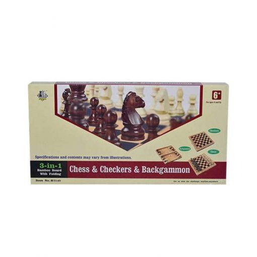 buy best 3 in 1 Chess Checkers Backgammon Set Folding Board Game at low price by shopse.pk in pakistan 1